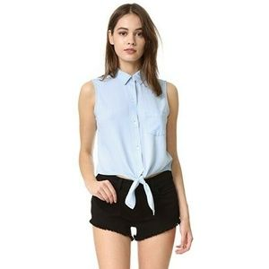 Rails Shea Tank Top Tie Front Vintage Chambray